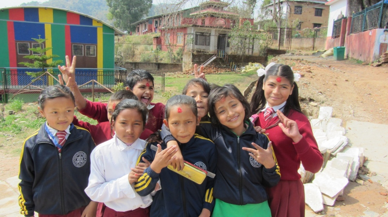 Local School Children in Kathmandu